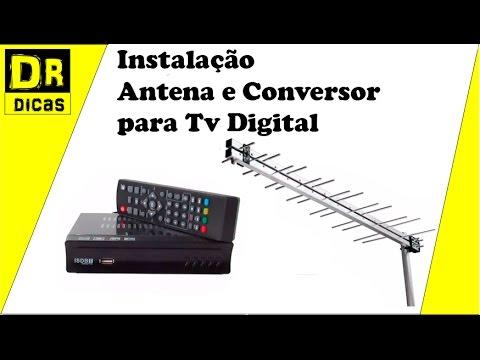 Tv Digital Antena e Conversor Instalação Passo a Passo  - Doutor Dicas