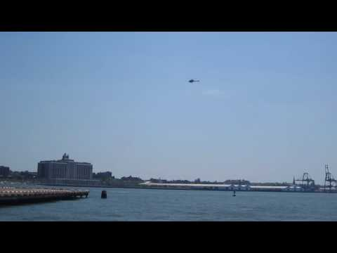Helicopter at Downtown Heliport Manhattan