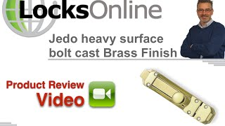 Jedo Flat Door Bolt surface fix   LocksOnline Product Reviews