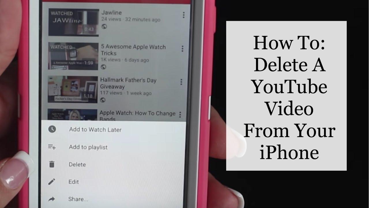 Youtube video löschen iphone