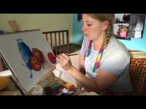 ART COURSE FREE ONLINE Task 10: Paul Cezanne Inspiration Painting