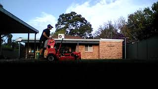 Mowing in the shadows, Gravely 36'