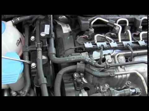 How to prime the VW TDI engine fuel pump and purge air out of the fuel  lines (2009+ engines)