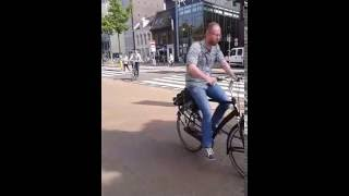 Traffic in Netherlands: cars, bicycles and pedestrians