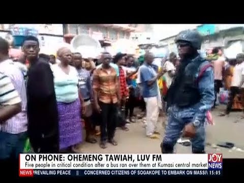 Bus runs over Five people at Kumasi central market. - The Pulse on Joy News (23-9-19)