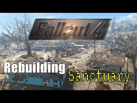 Fallout 4 Sanctuary Settlement #1 - No Mod Base Building - Fallout 4 Settlement Building [PS4]