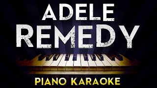 Adele - Remedy | Lower Key Piano Karaoke Instrumental Lyrics Cover Sing Along