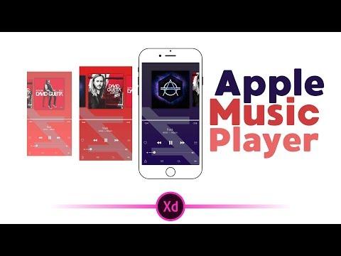 Apple Music Player  Adobe Xd