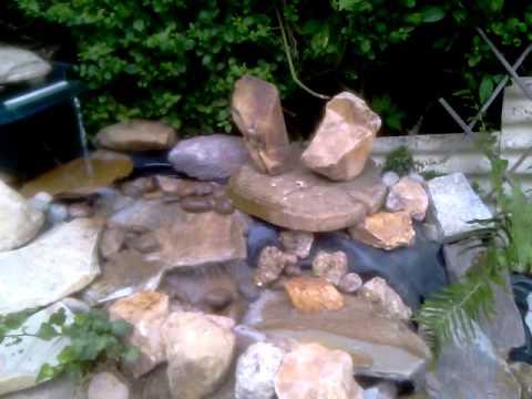 how to make a garden fountain youtube