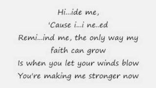 Hide me by  Kirk Franklin  with Lyrics