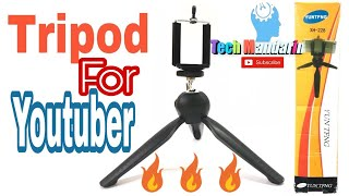 Unboxing YT-228 Mini Tripod Mount and Phone Holder Clip-Black|| TechmandariN