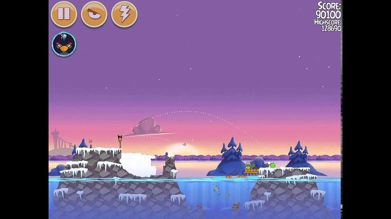 Angry Birds Seasons On Finn Ice Level 1-15 - YouTube