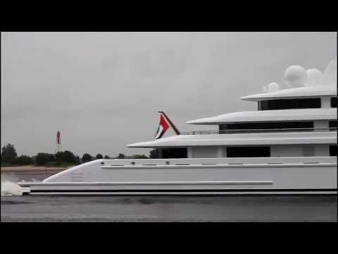AZZAM | Lürssen Yacht | Weser Höhe Brake Unterweser | longest Yacht in the World