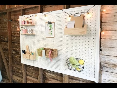 How to Paint and Frame Pegboard - YouTube