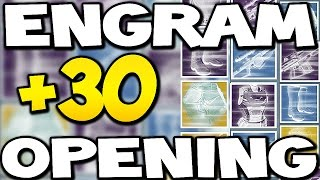Destiny - OPENING 30+ Mixed ENGRAMS ! (Destiny Engram Opening)