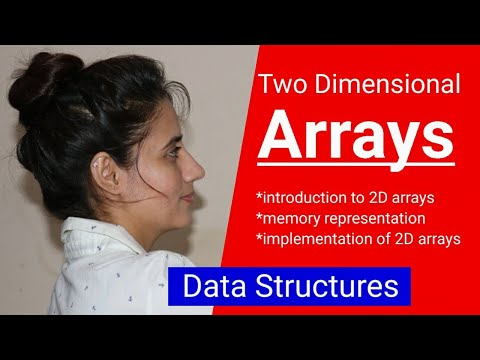 Introduction To Two Dimensional (2D) Arrays | Implementation Of 2D Arrays | Memory Representation