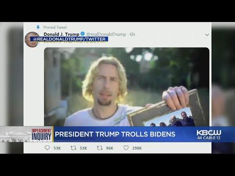 Chad Tyson - President Trump Trolls Joe Biden On Twitter With Nickelback Photograph Meme