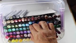 DIY Copic Marker Storage