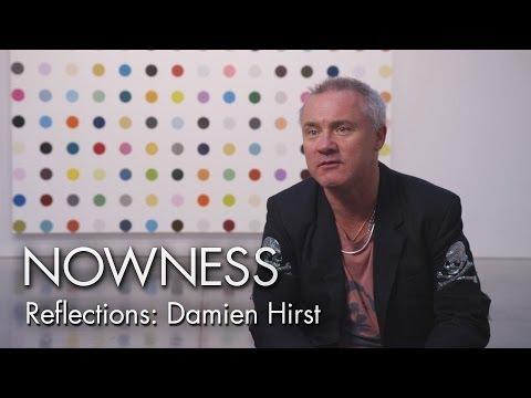 "Damien Hirst in Matt Black's ""Reflections"" series"