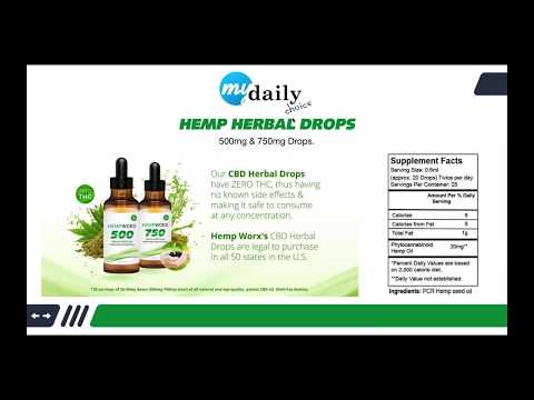 Hempworx Official Launch My Daily Choice CBD Oil Webinar Product Benefits Opportunity No Scam Review