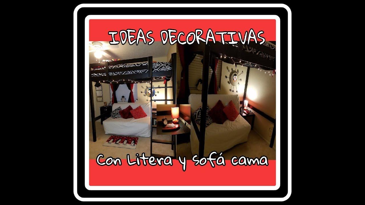 Ideas para habitacion con litera y sofa cama de ikea youtube - Sofa litera ikea ...