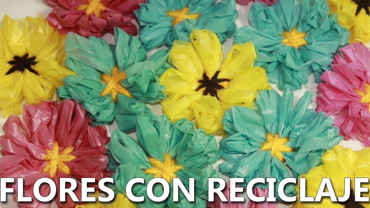 Como Hacer Flores Con Bolsas De Plástico Reciclaje