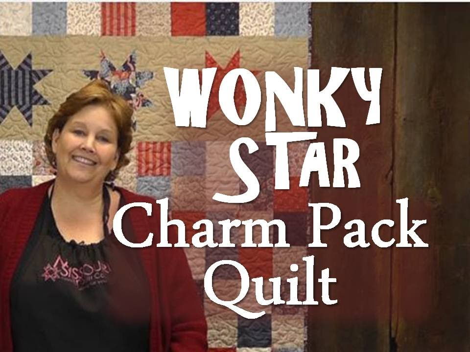 The Wonky Star Charm Pack Quilt Youtube