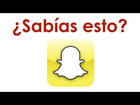 ¿Sabías esto de Snapchat?