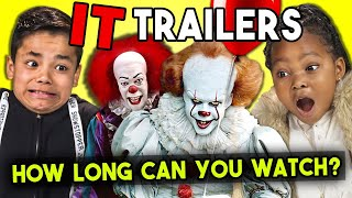 How Long Can Kids Watch It Chapter 2 Trailer? | Kids React