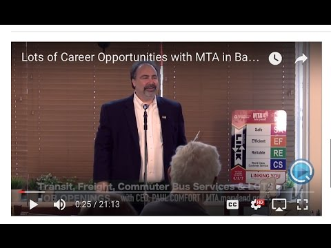 Lots of Career Opportunities with MTA in Baltimore!