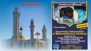 Direct Journée Xassida Kourel Kennal Serigne Touba Jalibatoul Marahib à Massalikoul Jinan 1441- 2020