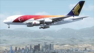 FSX A380 Bangkok to Los Angeles via Tokyo (Short version) [AMAZING REALISM+EXTREME GRAPHICS]