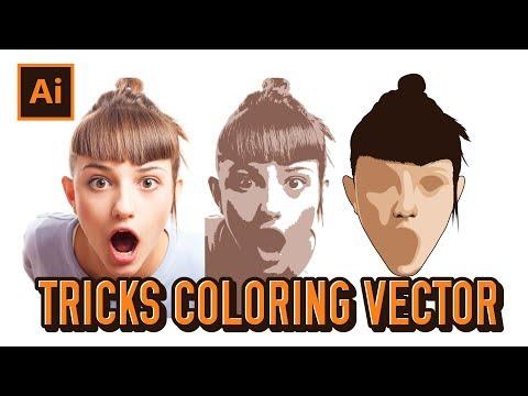 Basic Tutorial Tricks Coloring Vector Portraits   Adobe Illustrator