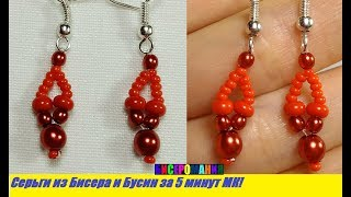 Серьги из Бисера и Бусин Своими Руками! Сережки из Бисера и Бусин Мастер Класс/ Earrings from Beads!