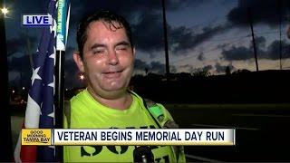 Veteran begins Memorial Day run