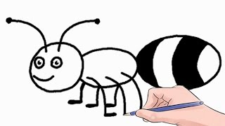 How to Draw an Ant Easy Step by Step