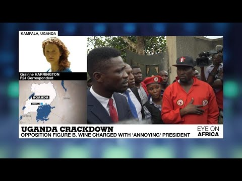 Eye on Africa - Opposition figure Bobi Wine charged with 'annoying' Uganda's president