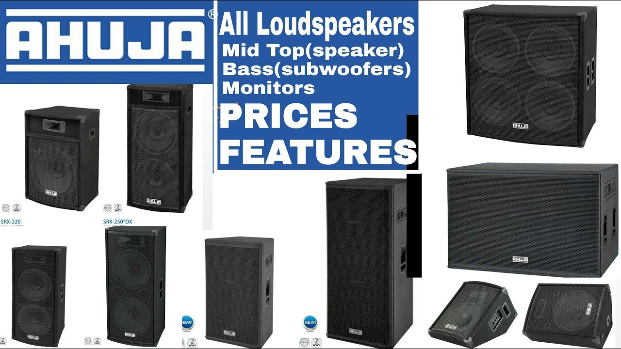 Ahuja all speakers,bass,ahuja subwoofers all loudspeakers Prices&details