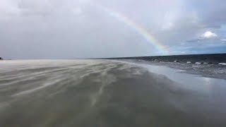 Video shows rainbow over South Beach as Florence just misses Hilton Head