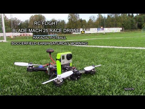 RC FLIGHT MACH 25 RACE DRONE AT SOCCERFIELD HAKADAL FOTBALL IL