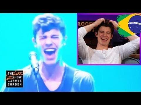 Shawn Mendes reage à sua voz falhada #LateLateShawn (Legendado PT/BR)
