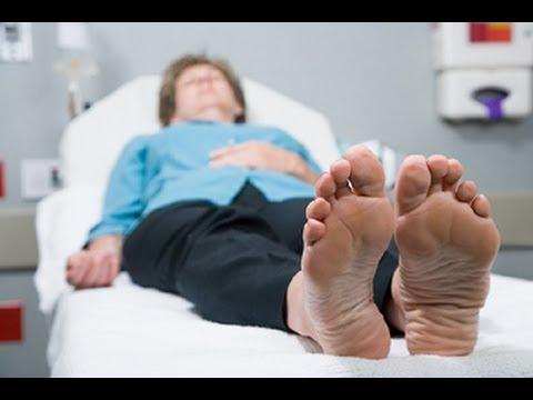 Feet on face massage