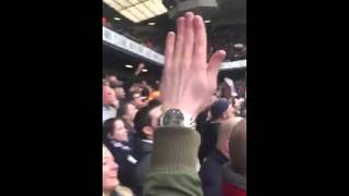 Spurs fans singing to the Man Utd away end on Sunday...
