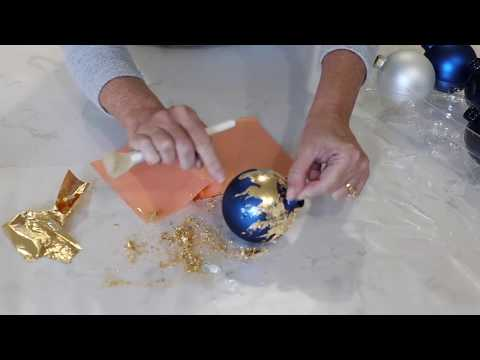 DIY Gold Leaf Ornaments