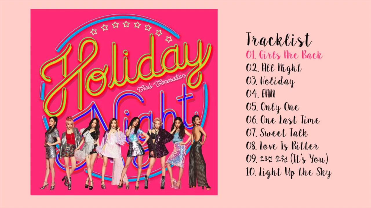 Resultado de imagen para Girls' Generation Holiday Night tracklist