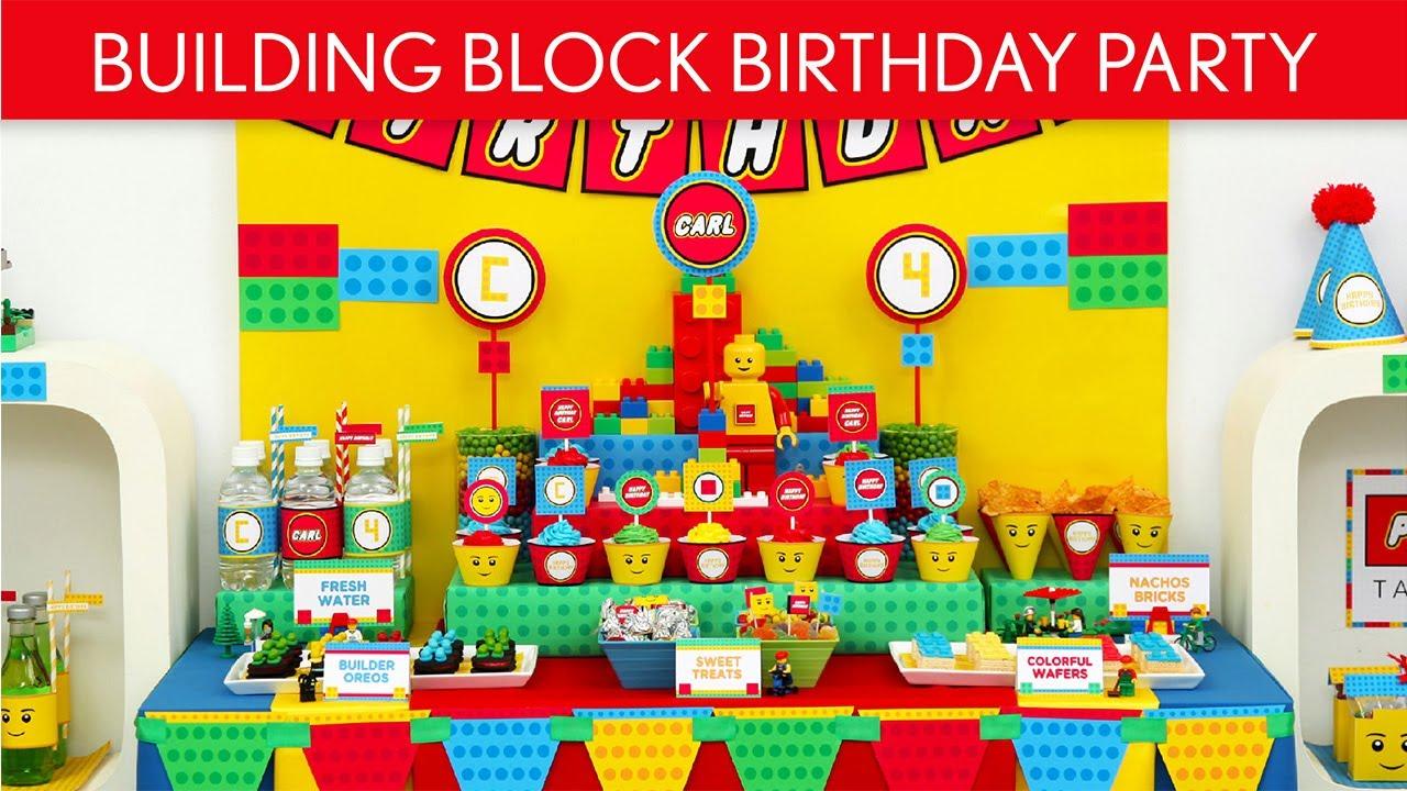 Building Block Birthday Party Ideas B21