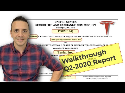 How To Read Form 10-Q Quarterly Earnings 📈 Release. Using Tesla Q2 2020 Report!