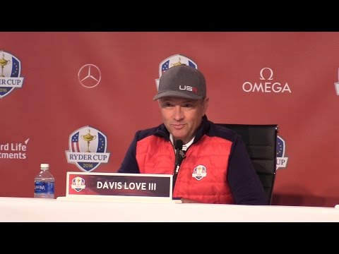 US Ryder Cup Captain Davis Love III Gives Press Conference