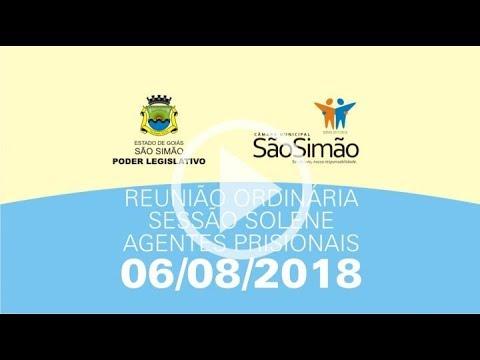 REUNIAO ORDINARIA 06/08/2018 - SOLENE