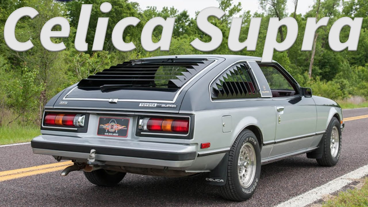 1980 toyota celica supra 5 speed full tour start up and test drive [ 1280 x 720 Pixel ]